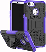 Shockproof Compatible with OPPO F5 Case, Personality Creativity Hyun Pattern Dual Layer Hybrid Armor Kickstand 2 In 1 Shockproof Case Cover Compatible with OPPO F5 / OPPO F5 Youth (Color : Purple)