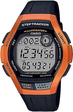 CASIO カシオ SPORTS GEAR スポーツギア WS-2000H-4A オレンジ Orange STEP TRACKER ステップトラッカー 歩数カウント機能 ランニング ジョギング スポーツ 防水 軽量 デジタル ウォッチ WS-2000H LWS-2000H 男性用 女性用 子供用 腕時計 [並行輸入品]