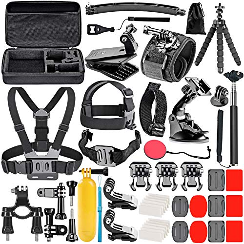 Neewer 50-In-1 Accessori Kit di Camera d'Azione Compatibile con GoPro 8 GoPro Hero 7 6 5 4 Hero Session 5 Apeman DJI OSMO Action SJ6000 DBPOWER AKASO VicTsing Rollei Lightdow Campar