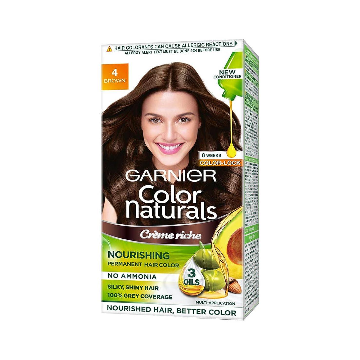 鳴り響く主人協会Garnier Color Naturals, Shade 4, Brown (70ml+60g)