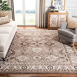 Safavieh Vintage Hamadan Collection VTH214T Oriental Traditional Persian Non-Shedding Stain Resistant Living Room Bedroom Area Rug, 6'7″ x 9′, Taupe