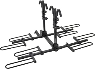 """VENZO 4 Bike Bicycle Platform Style Carrier - Bike Rack For Car Tow Hitch Receiver Mount Size 2"""" - Sturdy & Rust Proof"""