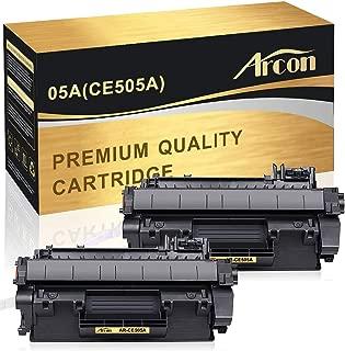 Arcon Compatible Toner Cartridge Replacement for HP 05A CE505A 05X CE505X HP P2035 P2055dn HP Laserjet P2035 P2055DN P2035N P2055D P0255X HP Laserjet P2055 P2035 2035 2055 Toner Printer(Black,2Packs)