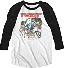 RATT American Glam Metal Band Mean Rat Soundboard Adult 3/4 Sleeve T-Shirt Tee