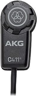 AKG C411 PP High-Performance Miniature Condenser Vibration Pickup with MPAV Standard XLR Connector