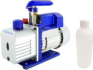 4CFM 1/3HP Single Stage Rotary Vane Vacuum Pump, Vacuum Pump HVAC 110V, Air Conditioning Vacuum Pumps with Manual Valve & ...