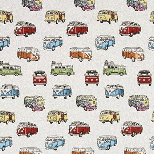 Fabulous Fabrics Gobelin Bulli VW — Meterware ab 0,5m — zum Nähen von Kissen, Tischdecken und Taschen