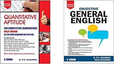 RS Aggarwal - Quantitative Aptitude for Competitive Examinations & Objective General English (Set of 2 books)(New Edition)
