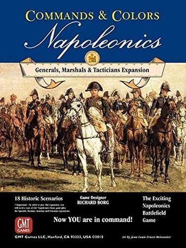 GMT Games Commands and Colors Napoleonics - Expansion 5 - Generals Marshals & Tacticians - Board Game