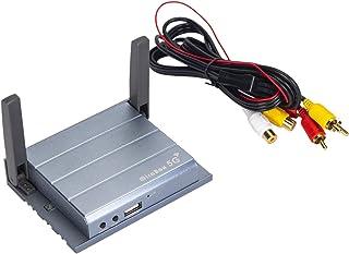 インターフェースアダプター ミラーリング AirPlay iOS 13/Miracast Android対応 HDMIとRCA 同時変換 カーナビ HDMI ミラーリングボックス 無線接続,Wetransfer (インターフェースアダプター)