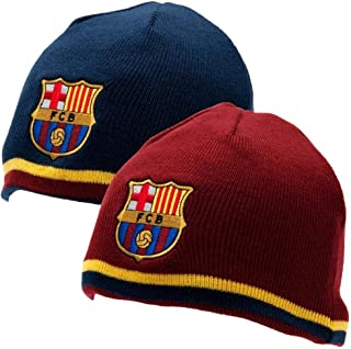 FC Barcelona Reversible Knitted Hat - Barca Beanie - Official Barcelona  Product - One Size Fits ec995d2797
