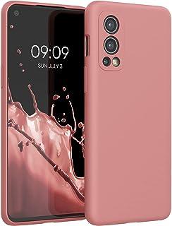 kwmobile telefoonhoesje compatibel met OnePlus Nord 2 5G - Hoesje met siliconen coating - Smartphone case in Rose Tan