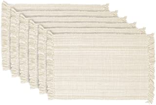 DII Variegated Tabletop, Placemat Set, Off-White 6 Count