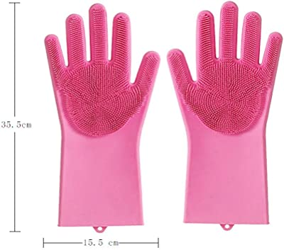 Dayons Silicone Hand Gloves (Multicolour, 33 x 14.5 x 2.5 cm) -1 Pair