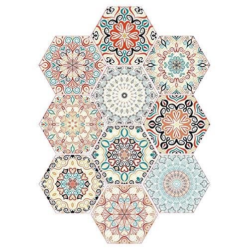 Pegatinas de Azulejos Autoadhesivos,10 adhesivos para azulejos de pared para decoración del hogar, 23 x 20 cm, impermeables,Pegatina de PVC para Decorar Azulejos Muebles Cocina Baño