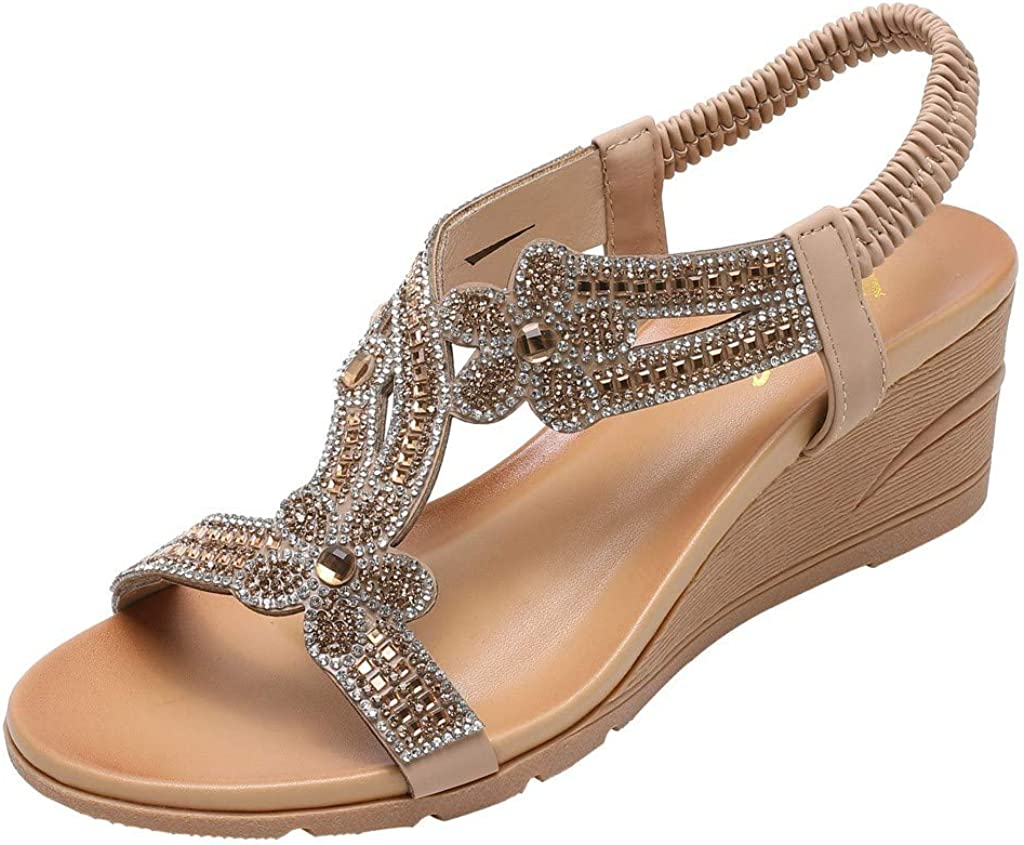 Amazon.com : Sameno Low Wedge Sandals