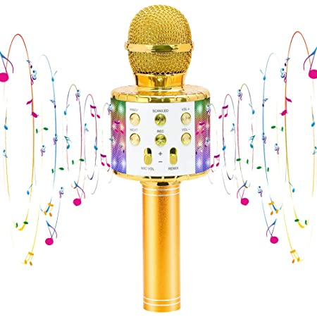Viposoon Wireless Portable Handheld Karaoke Microphone Bluetooth for Kids Best Gifts Kids Girls Gifts Games Age 5-14 Birthday Gifts for Girls Boys Christmas Gifts for Kids