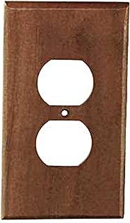 Sierra Lifestyles Traditional Switch Plate, 1 Duplex, Black Walnut