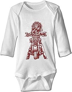 Infant Long-Sleeve Bodysuit Indian Motorcycle Baby Boys Girls