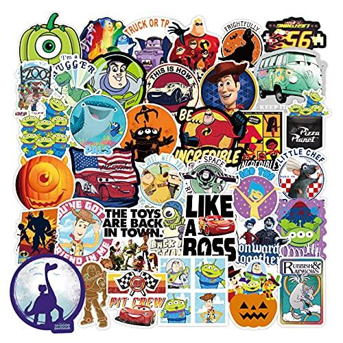 BUCUO Pegatina para Equipaje Pixar, Marca Marea, Europa y América, Ordenador periférico de Anime, teléfono móvil, Equipaje, Pegatina para niños, 100 Uds.