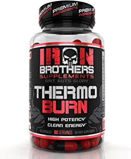 Thermogenic Fat Burners for Men/Women - Hardcore Weight Loss Pills - Appetite Suppressant- Premium Metabolism/Energy Booster – 60 Gel Capsules - Keto Friendly - Iron Brothers Thermo Burn