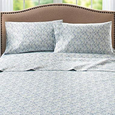 Better Homes and Gardens 300 Thread Count Sheet Collection Queen, Blue Drop Floral