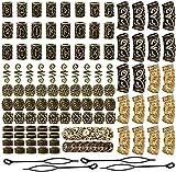 Queta 110 piezas de Cuentas de barba vikinga Cuentas de rast
