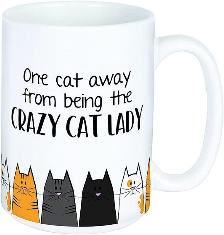 Carson Crazy Cat Lady Boxed Ceramic Mug Drinkware