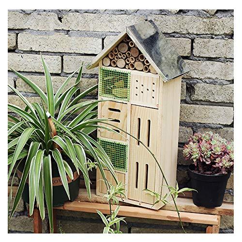 SUIBIAN Bienenhaus und Insektenhotel, 48.5x24.5x13.5 Groß Nutzinsektentoxizität Haus, Hof Garten Gemüsegarten Automatische Entwurmung/Garten Landschaftsbau