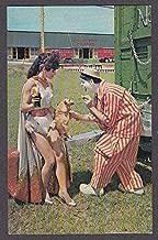 Carmencita & Bob-O Clown Alley Circus Hall of Fame Sarasota FL postcard 1960s