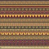 ABAKUHAUS Africano Tela por Metro, Símbolos Exóticos Ojos, Decorativa para Tapicería y Textiles del Hogar, 1M (148x100cm), Multicolor