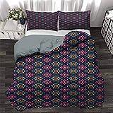 UNOSEKS LANZON - Funda de edredón con diseño de flechas con triángulos y colores vibrantes, diseño tribal con influencias de hotel, suave, atractiva, fácil de obtener colcha en multicolor