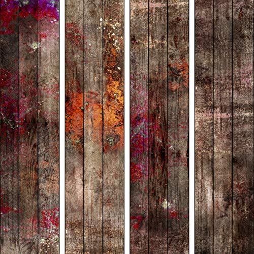 murando - PURO TAPETE - Realistische Tapete ohne Rapport und Versatz 10m Vlies Tapetenrolle Wandtapete modern design Fototapete - Rot Holz Farbe Holzoptik f-A-0700-j-a