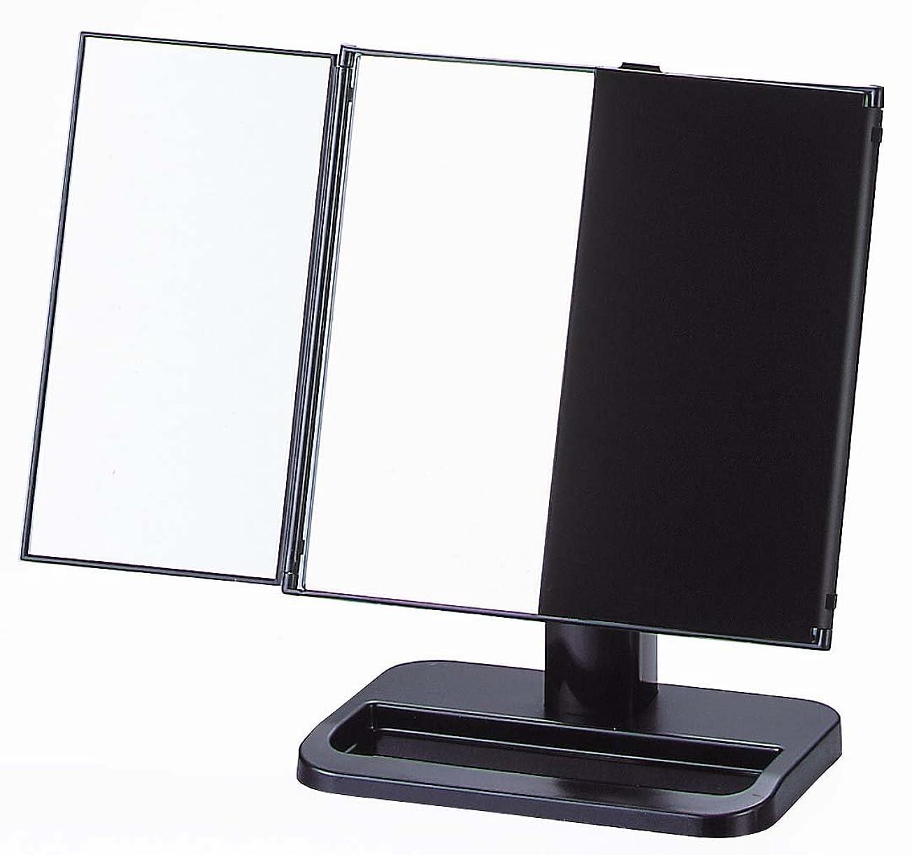 汚染するふつうテーブルヤマムラ 三面鏡 ブラック 日本製 S-888