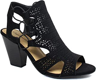 e658e657863 Amazon.com  City Classified - Heeled Sandals   Sandals  Clothing ...