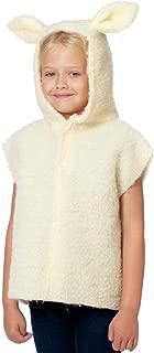Charlie Crow Lamb/Sheep Costume for Kids one Size 3-8 Years Cream