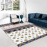 NW Alfombra grande para decoración del hogar, alfombra tejida...