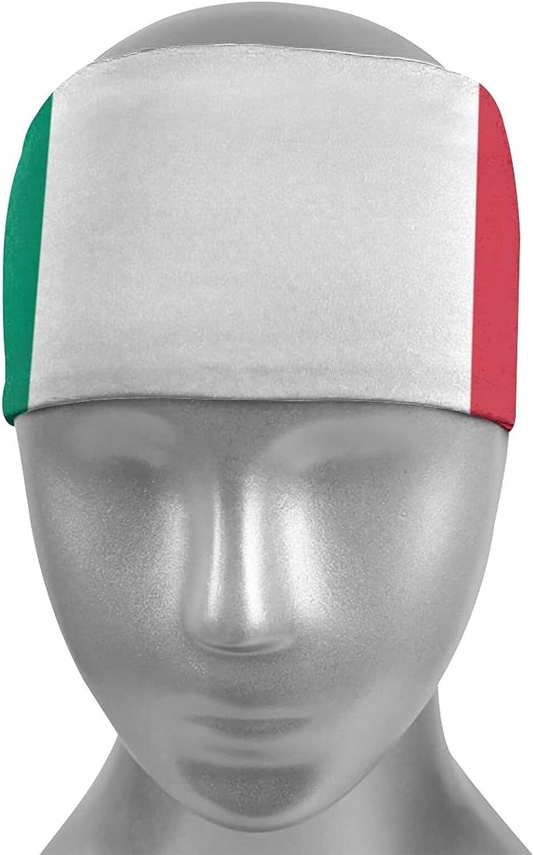 Ldmsl Italian Flag Unisex Elastic Slip favorite Sweatbands Athletic Challenge the lowest price of Japan ☆ Non M