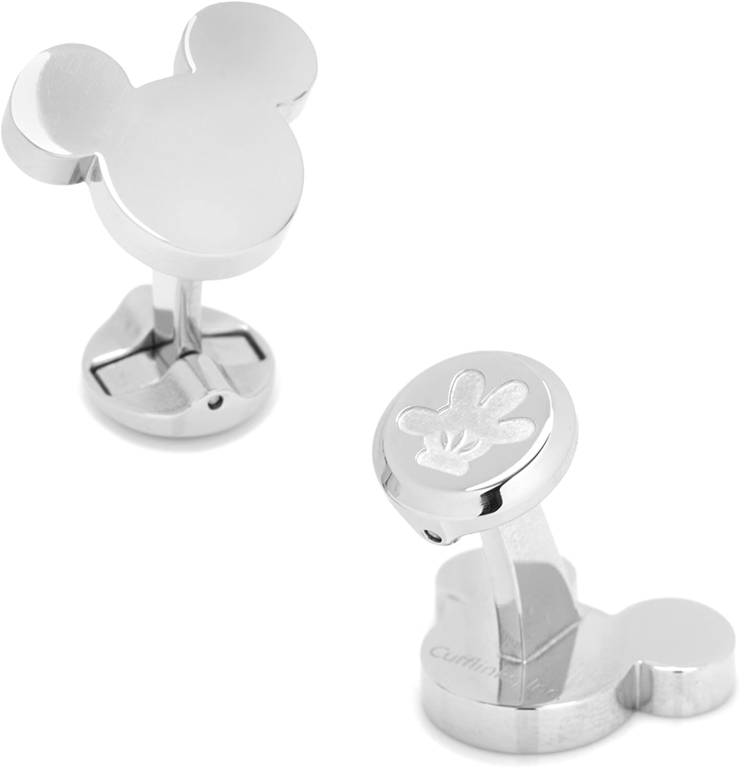 Stainless Steel Mickey Mouse Silhouette Cufflinks
