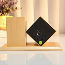 Goolsky LED Alarm Clock Equiped with Pen Case Digital Mute Gift Mini Wooden Clocks Student