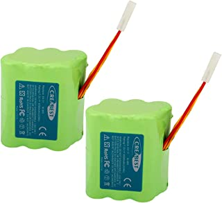 Creabest 2Packs Upgraded 7.2V 4500mAh Compatible with Neato XV-11 XV-12 XV-14 XV-15 XV-21 XV-25, XV Essential, XV Signature Pro Robotic Vacuum Cleaners 945-0005 205-0001
