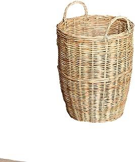 Lana Umbrella Stand,Wicker,Rattan Storage Basket,Creative Sundries Bucket (Size : M)
