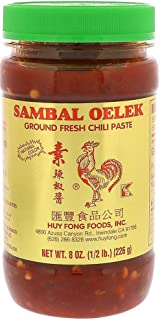 Sambal Oelek 06107 Ground Fresh Chili Paste 8 Oz, Made of Chilies with No Other Additives Such as Garlic or Spices for a M...