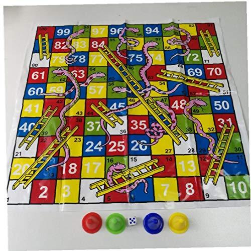 Zonfer 1pc Schlangen Und Leitern Brettspiel, Family Party Spiele Spielzeug Für 2-6