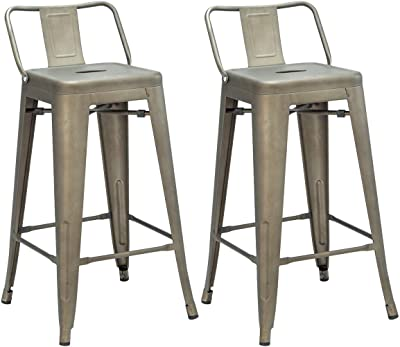 Cool Amazon Com Ac Pacific Modern Industrial Metal Barstool With Gmtry Best Dining Table And Chair Ideas Images Gmtryco