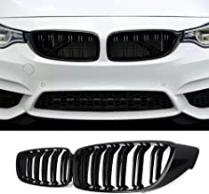 Front Kidney Grille Grill for 2013-2018 BMW 4 series F32 F33 F36 F82 F83 F80 (GLOSS BLACK)