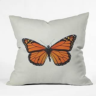 Deny Designs Chelsea Victoria The Queen Butterfly Indoor Throw Pillow, 16