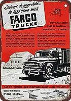 Fargo Trucks メタルポスター壁画ショップ看板ショップ看板表示板金属板ブリキ看板情報防水装飾レストラン日本食料品店カフェ旅行用品誕生日新年クリスマスパーティーギフト