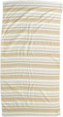 ナストー 大判バスタオル CONFORT DAILY LACHIC ランダムガーゼボーダー 70×140cm ベージュ 873025