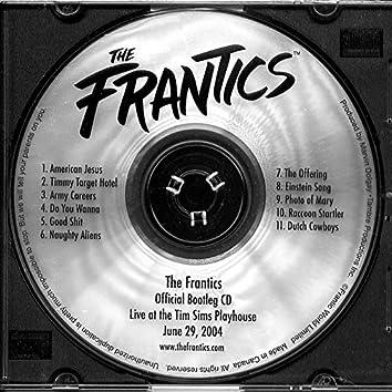 The Frantics Official Bootleg Cd
